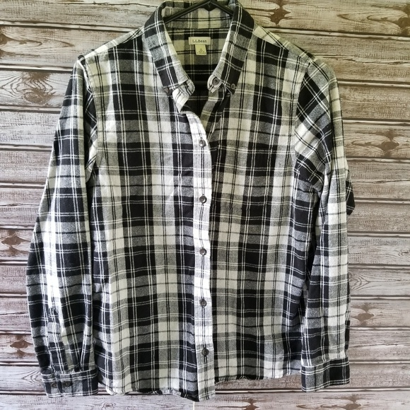 2ef2e083bf7 L.L. Bean Tops | Womens Ll Bean Plaid Flannel Shirt Size S | Poshmark